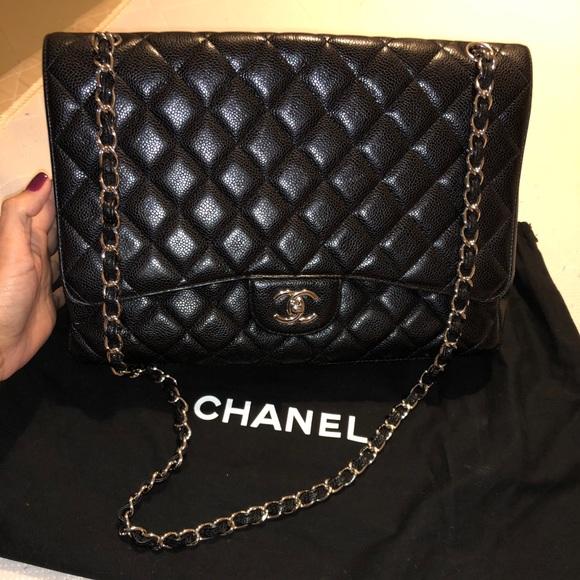 7ee8b23e048 CHANEL Handbags - Authentic Chanel Classic XLJumbo black caviar bag